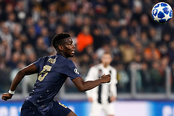 November 8, 2018 - Turin, Italy - Paul Pogba of Manchester United in action during the Group H match of the UEFA Champions League between Juventus FC and Manchester United FC on November 7, 2018 at Juventus Stadium in Turin, Italy. (Credit Image: © Mike Kireev/NurPhoto via ZUMA Press)