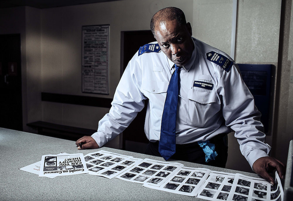 Portraits of Idris Bada (Custody team 2 Charing Cross police station, on Thursday 3 October, 2013.<br /> <br /> Idris is a police super recogniser matching and  cross references &amp; remembering villains that come out on a weekly met magazine called &quot;Caught on Camera&quot;.
