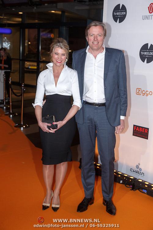 NLD/Amsterdam/20160307 - TV Beelden 2016, Sandra Ysbrandy en partner