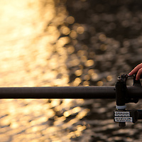 TAMPA, FL  -- A final check of the oars is made near the Tampa Bay Rowing Club on the University of Tampa campus near the Cass Street Bridge in Tampa, Florida. (Chip Litherland for Bay Magazine)