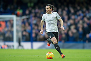 Leighton Baines of Everton during the Barclays Premier League match between Chelsea and Everton at Stamford Bridge, London, England on 16 January 2016. Photo by Salvio Calabrese.