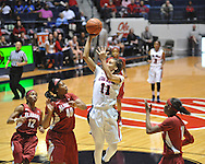 Ole Miss' Kenyotta Jenkins (11) vs. Alabama's Kaneisha Horn (40) in NCAA women's basketball action in Oxford, Miss. on Sunday, January 13, 2013.  Alabama won 83-75.