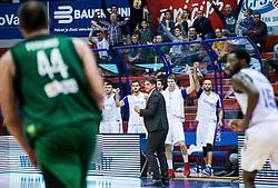 Damir Mulaomerovic, head coach of Cibona during basketball match between KK Cibona Zagreb (CRO) and Sidigas Avellino (ITA) in Round #3 of FIBA Champions League 2016/17, on November 1, 2016 in Dražen Petrović Basketball Hall, Zagreb, Croatia. Photo by Vid Ponikvar / Sportida