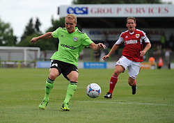 Forest Green Rovers Marcus Kelly  - Photo mandatory by-line: Dan Rowley/JMP  - Tel: Mobile:07966 386802 20/07/2013 -Forest Green Rovers  vs Bristol City  - SPORT - FOOTBALL - Forest Green Rovers - Bristol city  -