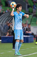 MELBOURNE, VIC - MARCH 05: Hwang Soonmin (20) of Daegu FC gestures prior to a throw in during the AFC Champions League soccer match between Melbourne Victory and Daegu FC on March 05, 2019 at AAMI Park, VIC. (Photo by Speed Media/Icon Sportswire)