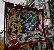 May Day march and rally at Trafalgar Square, May 1st, 2010 Banner Turkish and Kurdish Solidarity Centre