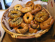 A basket of pastries from a local bakery in Zichron Yaakov, Israel. Unfortunately the smell and taste could not be recorded.