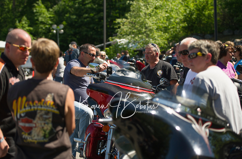 The 2015 Peter Makris Memorial Ride from the Naswa Resort.  Karen Bobotas/ for the Laconia Daily Sun