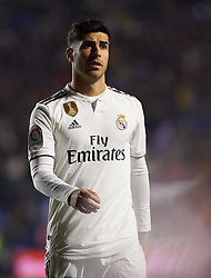 February 24, 2019 - Valencia, Valencia, Spain - Marco Asensio of Real Madrid during the La Liga match between Levante and Real Madrid at Estadio Ciutat de Valencia on February 24, 2019 in Valencia, Spain. (Credit Image: © AFP7 via ZUMA Wire)