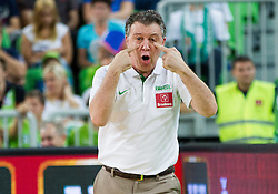 Ruben Magnano, head coach of Brasil during friendly basketball match between National Teams of Slovenia and Brasil at Day 2 of Telemach Tournament on August 22, 2014 in Arena Stozice, Ljubljana, Slovenia. Photo by Vid Ponikvar / Sportida