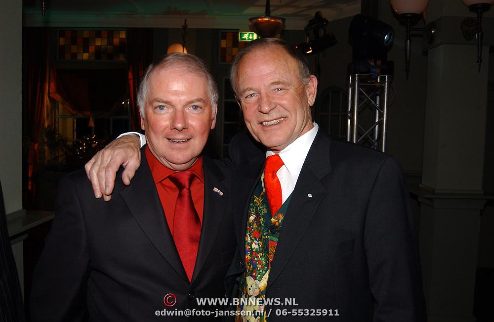 Kerstborrel Princess 2004, Ronnie Tober en vriend Jan Jochems