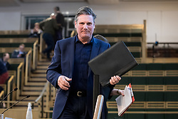 © Licensed to London News Pictures. 13/01/2018. London, UK. Shadow Secretary of State for Exiting the European Union Keir Starmer leaves after speaking at the Fabian Society 2018 Conference. The conference title is 'Policy Priorities for the Left'. Photo credit : Tom Nicholson/LNP