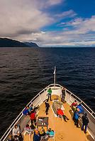 Wilderness Explorer (small cruise ship) , Stephens Passage, Inside Passage, Southeast Alaska USA.