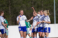 Tocha,Portugal, 9th April 2013 - European Women`s Under 19 - Northern Ireland v Finland - Finland celebrate goal