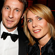 NLD/Amsterdam/20091121 - JFK Great men of the Year Gala 2009, Michel Kreek en partner Ellitte
