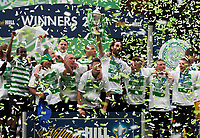 Football - Scottish Cup Final - Celtic vs Hibernian<br /> <br /> Georgios Samaras with the Scottish Cup after the Final between Celtic and Hibernian at Hampden Stadium, Glasgow<br /> 26th May 2013<br /> <br /> Colorsport