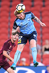 January 8, 2018 - Brisbane, Queensland, Australia - DAVID CARNEY of Sydney (17) heads the ball during the round fifteen Hyundai A-League match between the Brisbane Roar and Sydney FC at Suncorp Stadium in Brisbane, Australia. Sydney won 3:0. (Credit Image: © Albert Perez via ZUMA Wire)