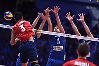 Taylor Sander of USA<br /> Torino 30-09-2018 Pala Alpitour <br /> FIVB Volleyball Men's World Championship <br /> Pallavolo Campionati del Mondo Uomini <br /> Finals / 3th place<br /> Serbia - USA  <br /> Foto Antonietta Baldassarre / Insidefoto