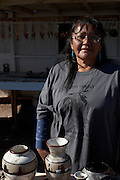 Navajo Roadside Stand Portrait, Roadside Stands
