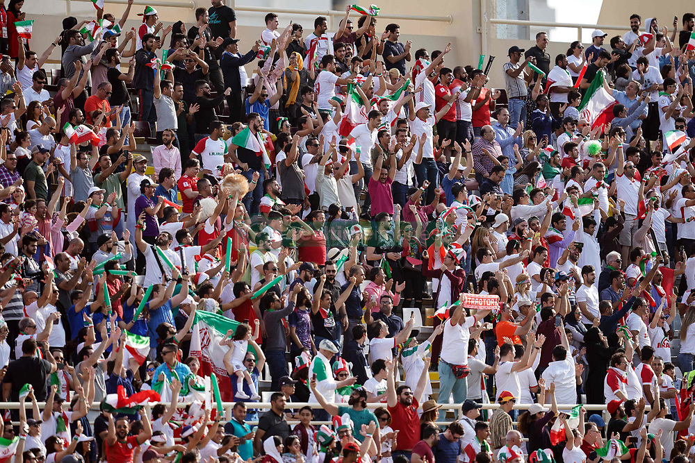 January 12, 2019 - Abu Dhabi, Abu Dhabi, United Arab Emirates - Iranian fans celebrating scoring to 1-0    during Vietnam v Iran, AFC Asian Cup football, Nahyan Stadium, Abu Dhabi, United Arab Emirates on January 12, 2019  (Credit Image: © Ulrik Pedersen/NurPhoto via ZUMA Press)