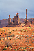 Totem Pole at Monument Valley Navajo Tribal Park Arizona