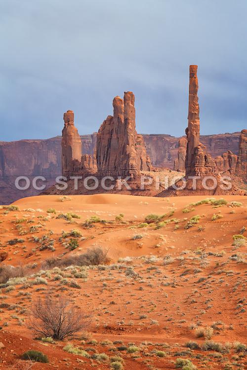 Totem Pole at Monument Valley Navajo Tribal Park Arizona