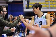 DESCRIZIONE : Biella Fiba Europe EuroChallenge 2014-2015 Bonprix Biella PO Antwerp Giants<br /> GIOCATORE : Tommaso Laquintana<br /> CATEGORIA : esultanza postgame<br /> SQUADRA : Bonprix Biella<br /> EVENTO : Fiba Europe EuroChallenge 2014-2015<br /> GARA : Bonprix Biella PO Antwerp Giants<br /> DATA : 12/11/2014<br /> SPORT : Pallacanestro <br /> AUTORE : Agenzia Ciamillo-Castoria/S.Ceretti<br /> Galleria : Fiba Europe EuroChallenge 2014-2015<br /> Fotonotizia : Biella Fiba Europe EuroChallenge 2014-2015 Men Bonprix Biella PO Antwerp Giants<br /> Predefinita :