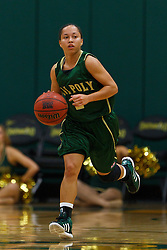 Nov 16, 2011; San Francisco CA, USA;  Cal Poly Mustangs guard Jonae Ervin (2) dribbles the ball up court against the San Francisco Lady Dons during the first half at War Memorial Gym.  Cal Poly defeated San Francisco 80-66. Mandatory Credit: Jason O. Watson-US PRESSWIRE