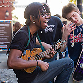 Busking at The Tabernacle 06-10-2017