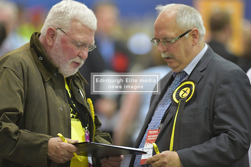 SCOTTISH PARLIAMENTARY ELECTION 2016 – Scottish National Party (SNP) Election agents at Royal Highland Centre, Edinburgh<br />