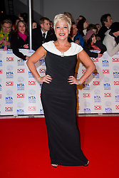 Denise Welch arrives at the National Television Awards at the 02 Arena, London Wednesday January 23, 2013. Photo by Chris Joseph / i-Images
