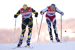 05.01.2011, Nordic Arena, Toblach, ITA, FIS Cross Country, Tour de Ski, Qualifikation Sprint Women and Men, im Bild Cyril Miranda (FRA, #34) und Juergen Pinter (AUT, #50). EXPA Pictures © 2011, PhotoCredit: EXPA/ J. Groder