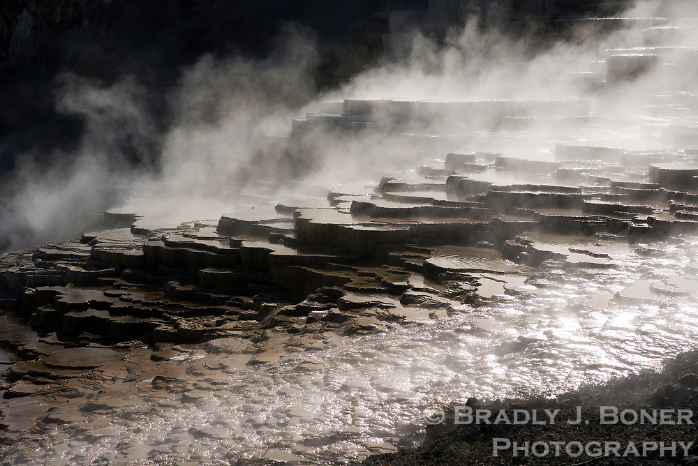 Mammoth Hot Springs, Yellowstone National Park, Wyoming.