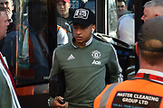 Jesse Lingard (14) of Manchester United arriving at the Vitality Stadium before the Premier League match between Bournemouth and Manchester United at the Vitality Stadium, Bournemouth, England on 18 April 2018. Picture by Graham Hunt.