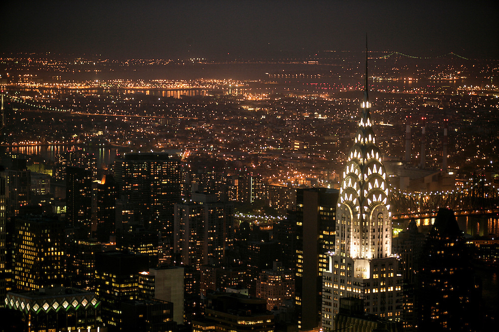 Chrysler building seen from the Empire State Building.