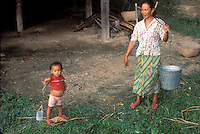 Mother and Daughter carrying water