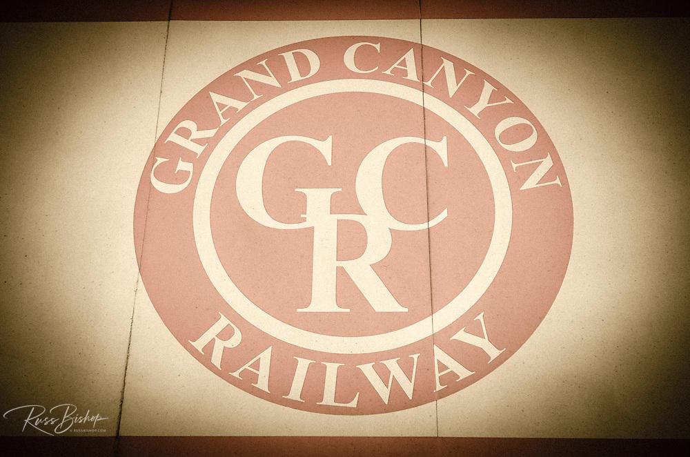 Grand Canyon Railway logo, Williams, Arizona USA