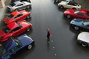 Image of Porsches at a Porsche Club of America car show, Redmond, Washington, Pacific Northwest