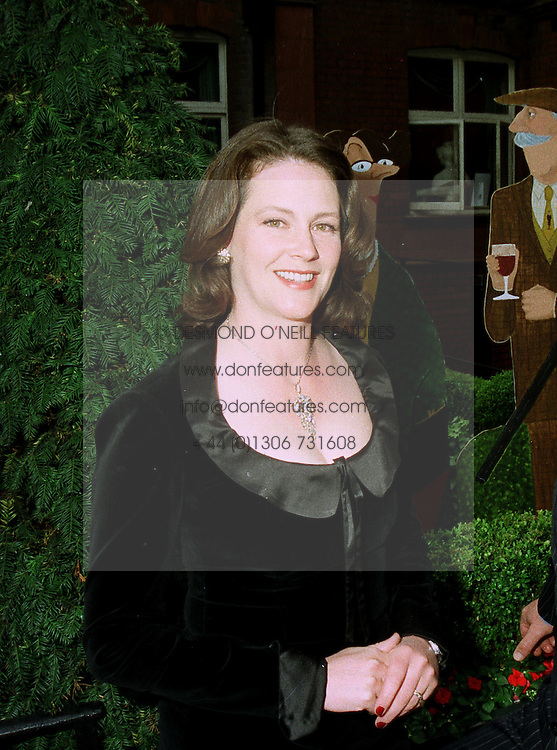 Cartoonist ANNIE TEMPEST at an exhibition in London on 20th May 1997.LYK 10 WO