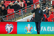 England Head Coach Gareth Southgate during the UEFA European 2020 Qualifier match between England and Montenegro at Wembley Stadium, London, England on 14 November 2019.