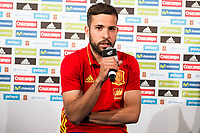 Jordi Alba during the opening of the corner of the Spanish team in its new Adidas Store Gran Vía in Madrid. June 05 2016. (ALTERPHOTOS/Borja B.Hojas)