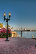 Long Beach, CA, RMS Queen Mary, Cruise ship, Hotel, Shoreline Park, Waterfront, Southern California, USA