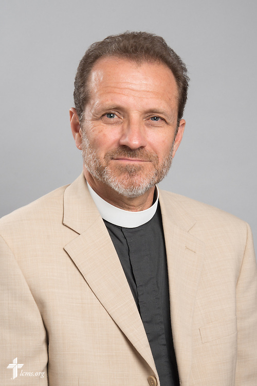 Headshot photograph of the Rev. Dan McMiller on Friday, May 29, 2015, at the International Center of The Lutheran Church–Missouri Synod in Kirkwood, Mo. LCMS Communications/Frank Kohn