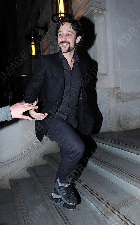 16.APRIL.2012. LONDON<br /> <br /> THOMAS IAN NICHOLAS ARRIVING BACK AT THE CORINTHIAN HOTEL IN LONDON<br /> <br /> BYLINE: EDBIMAGEARCHIVE.COM<br /> <br /> *THIS IMAGE IS STRICTLY FOR UK NEWSPAPERS AND MAGAZINES ONLY*<br /> *FOR WORLD WIDE SALES AND WEB USE PLEASE CONTACT EDBIMAGEARCHIVE - 0208 954 5968*