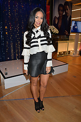 SARAH JANE CRAWFORD at the #PandoraWishes Campaign Launch Event, Pandora Marble Arch flagship store, London on 12th November 2014.