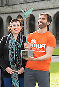 29/02/2014 repro free Hilary Foley and Niall Fennell  from a Co. Galway health food business NUA Naturals has won the top prize of &euro;10,000 cash in the SCCUL Enterprise Awards. The winner was announced at the annual SCCUL Enterprise Awards prize giving ceremony and business expo which was hosted by NUI Galway in the Bailey Allen Hall, NUIG .<br />  <br /> Inspired by the rapidly growing global trends of health and wellness, NUA Naturals supplies and distributes high quality health food in Ireland and the UK while also sourcing raw ingredients internationally which are then packaged and distributed under the NUA brand name.<br />  <br /> Established in 2011, NUA Naturals currently employs 11 people at their base in Westside, Galway. The company entered the UK market last year and has plans to increase their reach internationally over the next 18 months.<br />  <br /> NUA Naturals&rsquo; Niall Fennell was presented with his prize by Padraig O&rsquo; Callaghan, Chairman of St. Columba&rsquo;s Credit Union Galway, and John Lenihan, Chairman of SCCUL Enterprises who jointly sponsored the winner&rsquo;s prize.<br />  <br /> Speaking at the event, Mr. Fennell said that he was honored and delighted to receive this award.<br />  <br /> &ldquo;Entering the SCCUL Awards has been an incredible experience for us. It has allowed us to take a step back and really look at our business. We will invest our award back into our business to help us take our business to the next level,&rdquo; said Mr. Fennell.<br />  <br /> NUA Naturals also receives a &euro;2500 advertising package from local media sponsor Galway Independent and a specially commissioned sculpture by Galway based sculptor, Liam Butler. Photo:Andrew Downes