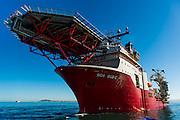 Bow and helipad of the Boa Sub C Multi purpose Offshore Vessel
