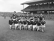 Neg no: A375/8428-8441...1957NFLF..00.00.1957..National Football League - Final...Galway.01-08..Kerry.00-06..Galway. ..J. O'Neill, S. Keeley, G. Daly, T. Dillon, J. Kissane, J. Mahon (Captain), M. Greally, F. Evers, M. McDonagh, J. Coyle, S. Purcell, W. O'Neill, J. Young, F. Stockwell G. Kirwan. .J. Mahon (Captain)..