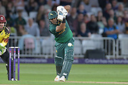 Samit Patel drives during the NatWest T20 Blast Quarter Final match between Notts Outlaws and Somerset County Cricket Club at Trent Bridge, West Bridgford, United Kingdom on 24 August 2017. Photo by Simon Trafford.