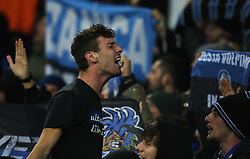 General view of Atalanta fans - Mandatory by-line: Jack Phillips/JMP - 23/11/2017 - FOOTBALL - Goodison Park - Liverpool, England - Everton v Atalanta - UEFA Europa League Group Stage